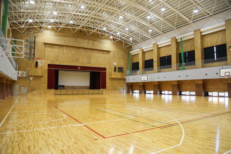 空調設備が整った体育館